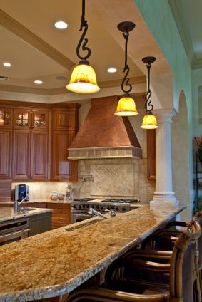 brown tuscan kitchen
