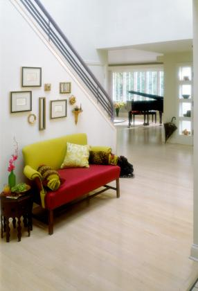 entry with furniture