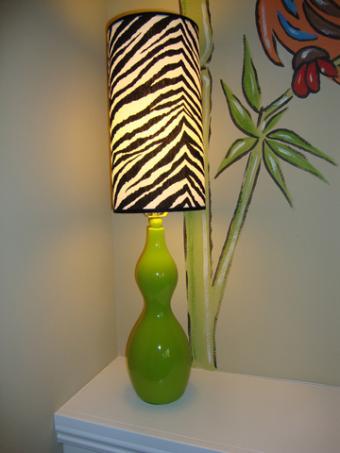 Zebra print lampshade; copyright Starletdarlene | Dreamstime.com