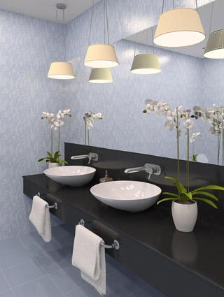 Blue spa bathroom