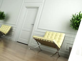 Barcelona chair; copyright Pablo Scapinachis at Dreamstime.com