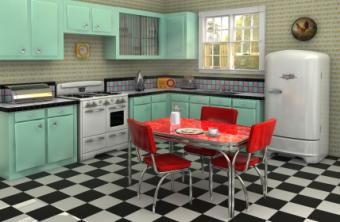 1950's kitchen design