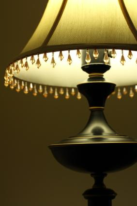 bead trim lampshade