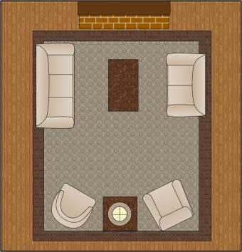 living room arrangement a