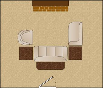 living room arrangement u shaped grouping