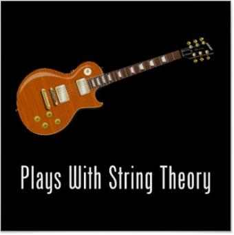 Plays With String Theory poster from Zazzle