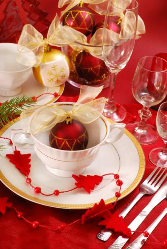 Whimsical Christmas dinner setting