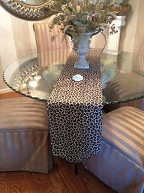 Leopard Print Table Runner