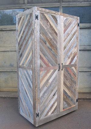 Reclaimed Pallet and Barn Wood Hutch by New Antiquity