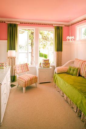 Short, narrow bedroom