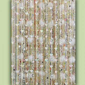 Re-purposed Jewelry Beaded Curtain