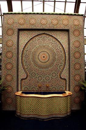 Moroccan Tiled Indoor Fountain