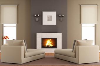 Beige Living Room Interior