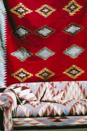 Red Native American Hanging Blanket