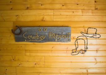 Cowboy Hangout Sign