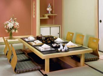 Traditional Japanese dining table