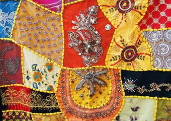 Applique embroidered with beads and embroidery