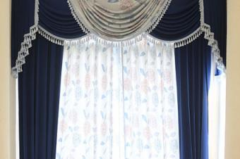 Curtain with embellishments