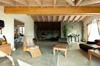 Natural elements living room