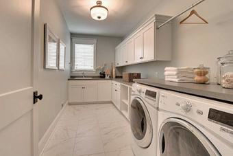 Christian Brothers cabinets in laundry room