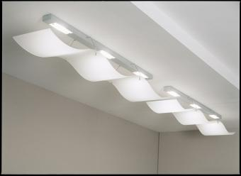 white ceiling with lighting