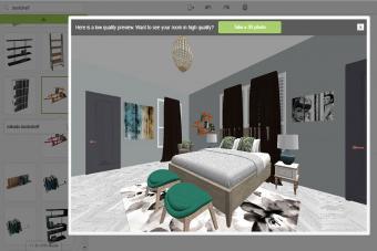 Screenshot of Room Styler bedroom program