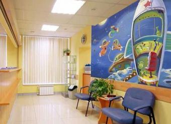 Doctors Waiting Room Mural of Outer Space