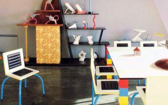 Karl Lagerfeld's Memphis dining room