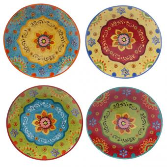 Certified International Tunisian Sunset Dinner Plates Set of 4