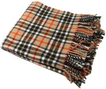 "Kerry Woollen Mills Tartan Blanket 52"" x 70"" 100% Wool Irish Made"
