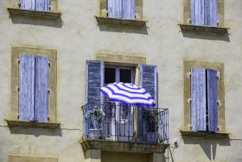 Mediterranean blue balcony