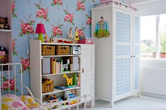 armoire with contact paper