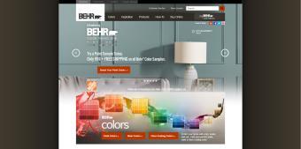 Screenshot of Behr