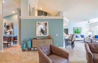 Unifying great room color palette