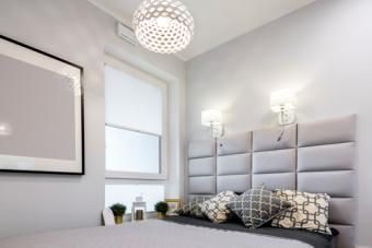 Small modern bedroom lighting