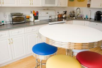 50's style chrome kitchen table set