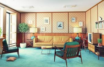 50's style living room
