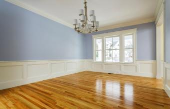 Home interior with hardwood floors