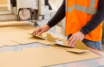 Folding cardboard