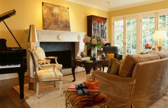 Living Room with Yellow Walls