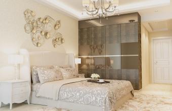 Luxury designed bedroom interior