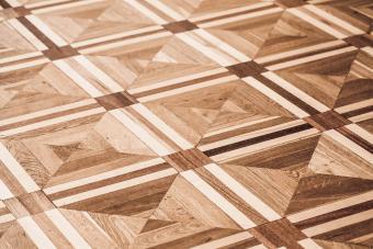 Classical old wooden parquet design