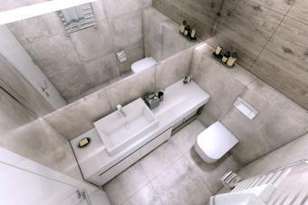 Small modern bathroom interior