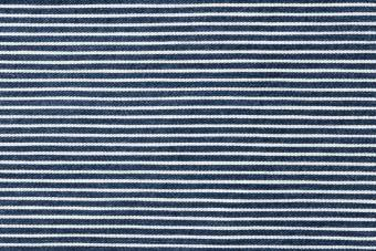 Striped blue and white fabric