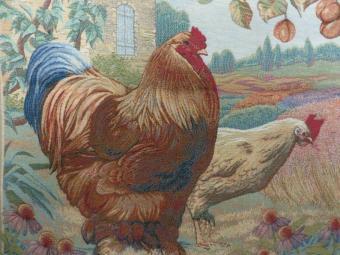 Roosters vintage tapestry