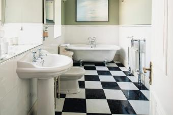 Art Deco bathroom flooring