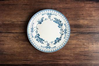 Empty plate with floral pattern