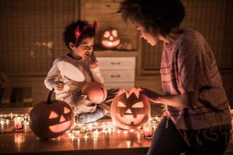 Make Pumpkin Candle Holders