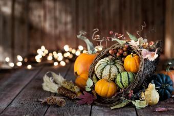 Autumn Thanksgiving Cornucopia