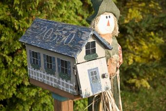 Country Mailbox with Scarecrow